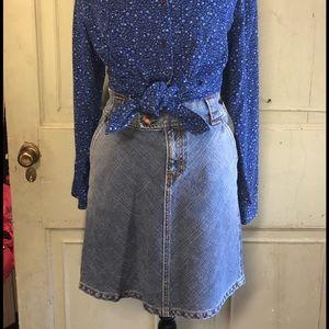 Gap jeans skirt